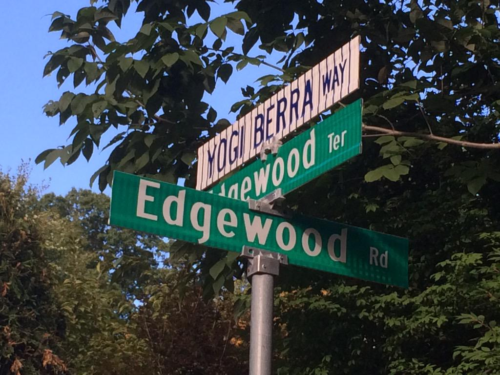 """When you get to the fork in the road, take it.""   RIP to longtime Montclair resident and baseball legend #YogiBerra. http://t.co/0c8Pe4WlNF"