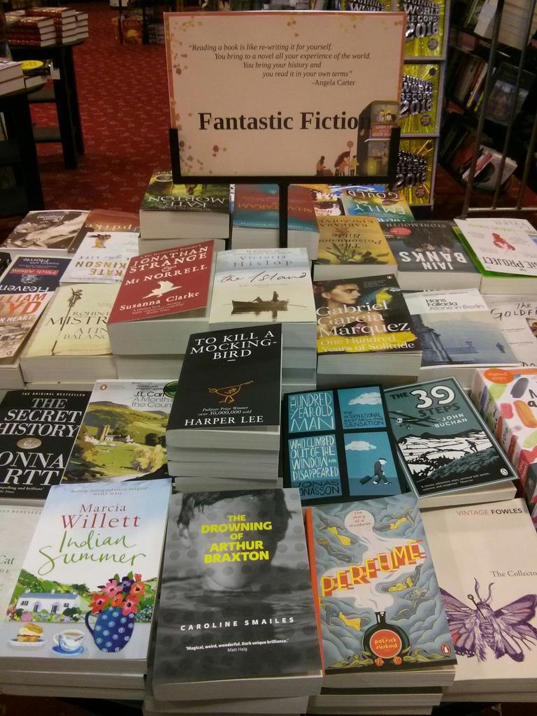 Happy to see @arthurbraxton by @Caroline_S in Waterstones Salisbury too. Read it before next year's film version! http://t.co/xrKMVTpP1x