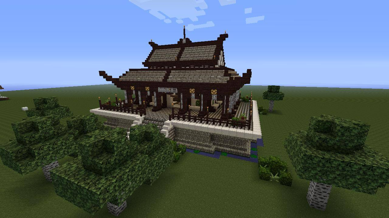 Minecraft Creations Sur Twitter Japanese Temple In Minecraft By Thezanderson Http T Co D1ui9ukgye