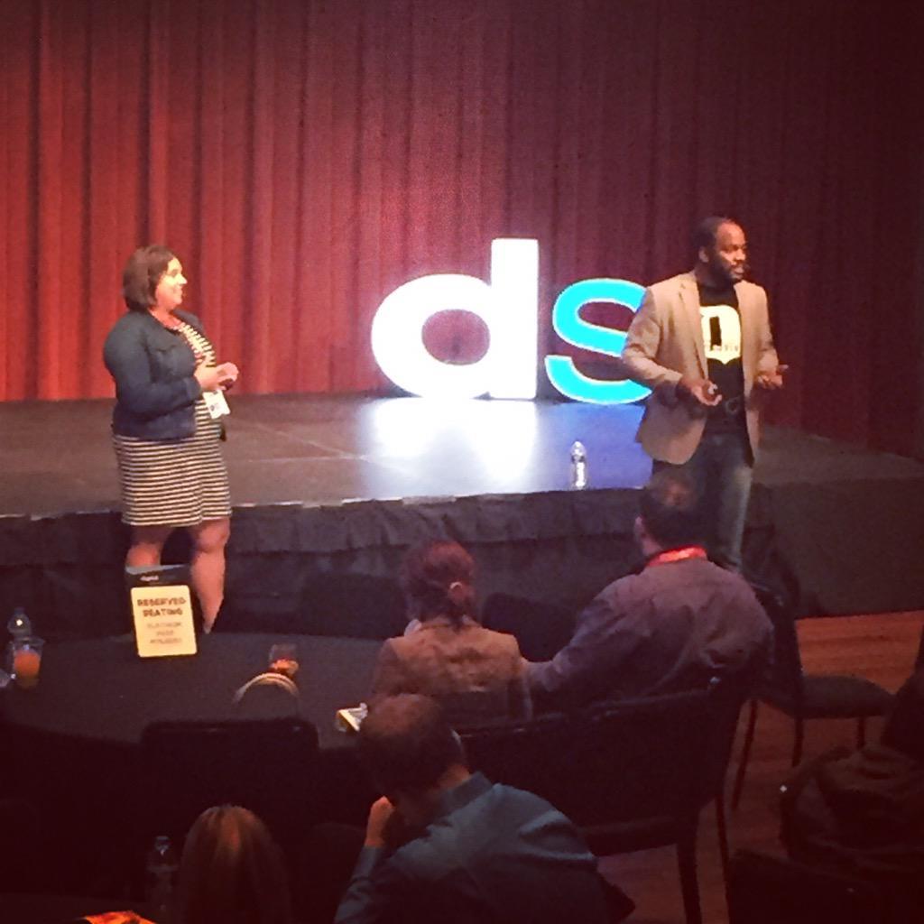 Watching a great presentation by our @socialcoopmedia friends @bjstrawter & @Kim_Stricker at #DSDET15 http://t.co/l3JXyVm6bC