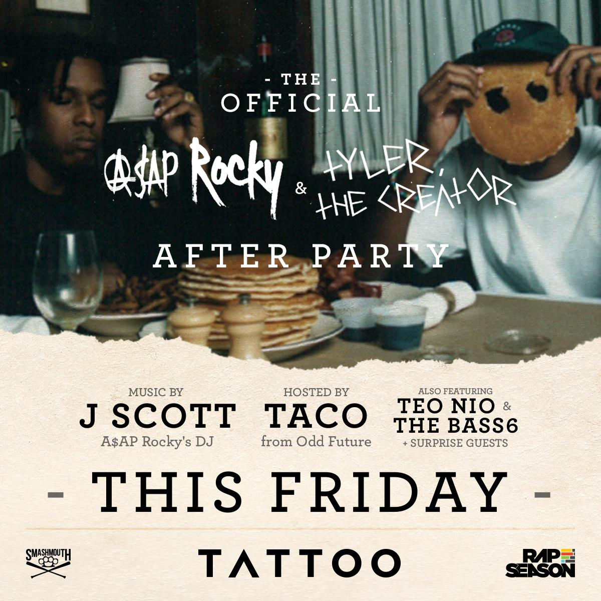 The #RockyTyler after party goes down Friday w/ @JscottandShit @oddfuckingtaco & more! http://t.co/OykAPhRy86 http://t.co/k0v7bpNXmH