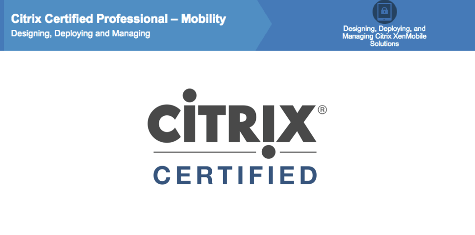 Citrix Xenmobile On Twitter New Citrix Certified Professional