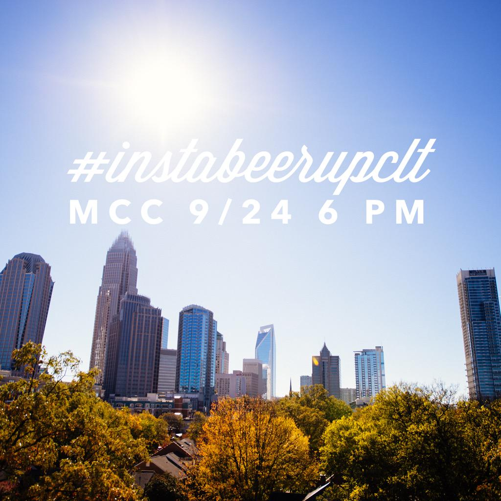 We're grabbing beers with @corriasmith & @VTGCLT at #instabeerupclt tomorrow! Won't you join us? http://t.co/nJtciltkO1