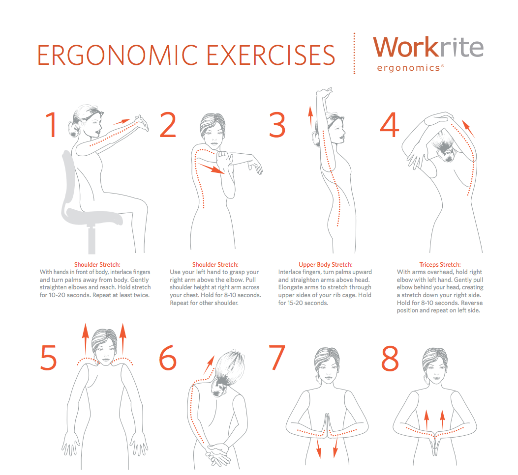 Workrite Ergonomics On Twitter Quot Workplace Exercises Http
