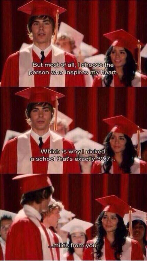 Romance Movie Quotes On Twitter High School Musical 3 Httptco
