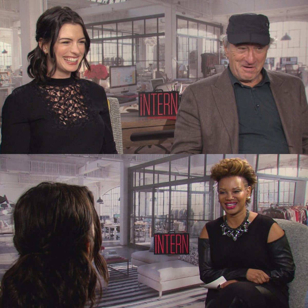 """Anne Hathaway And Robert De Niro: Etalk On Twitter: """"Tonight @stayfabulous Sits Down With"""