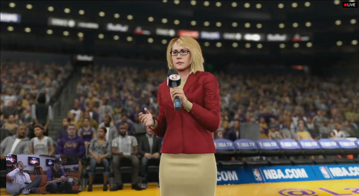 Doris Burke's character in NBA 2k16