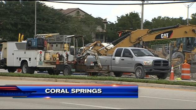Crews Cap Gas Leak In Coral Springs T Co Iolfpgpvj