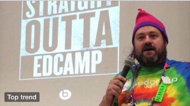 Nathan, Education's Anti-Hero and edcamp tough guy  #WeirdEd http://t.co/nDakmyP40G