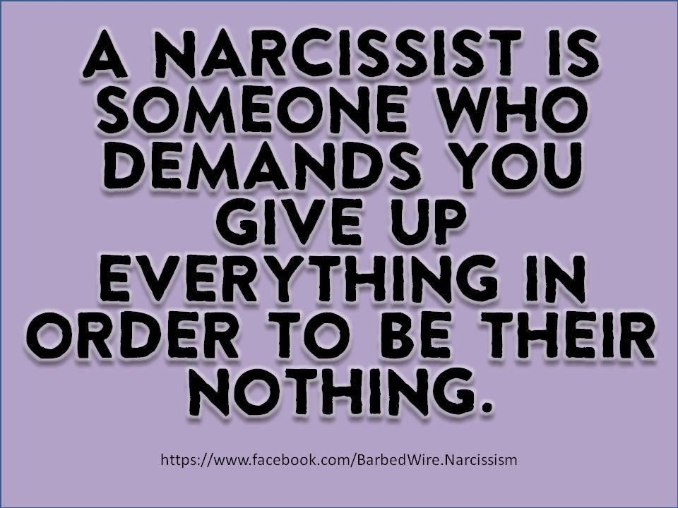 When does a narcissist give up