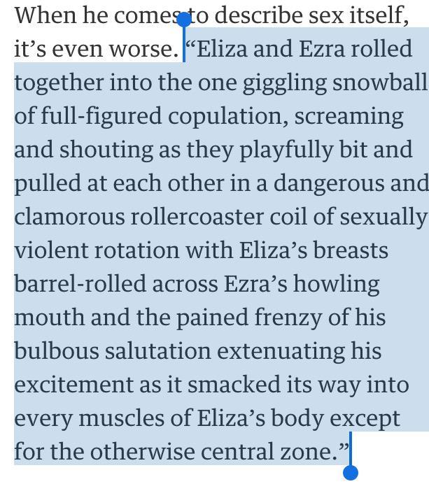 PARKLIFE!  (Morrisey's novel in @guardian) http://t.co/L90MyhK9cJ