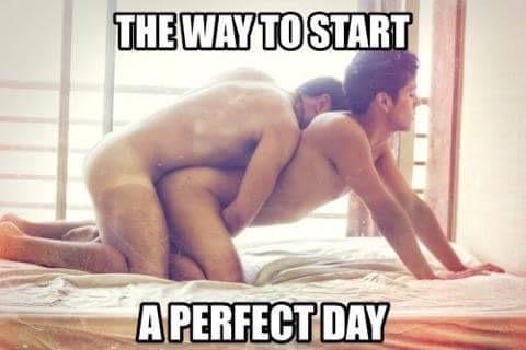 Gay morning sex