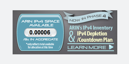 At this very moment, only 4 /24 IPv4 blocks left! http://t.co/6wJFyuRgJW