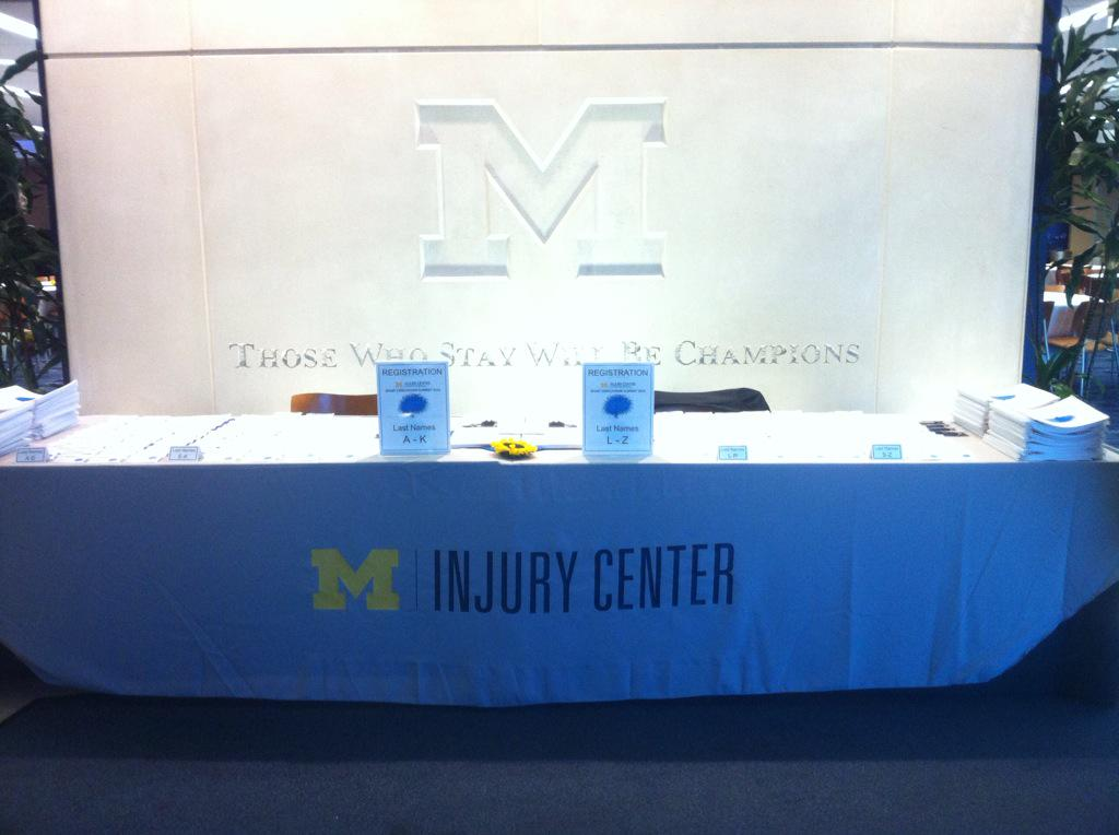 Excited!!! #concussion summit in t-45 mins!! #uminjuryctr http://t.co/VGB9nwYODw