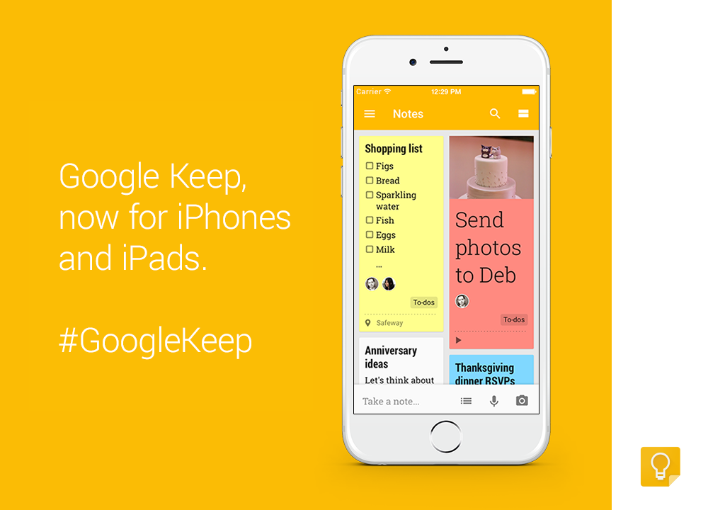 google keep iphone keep save your thoughts from wherever including 9427