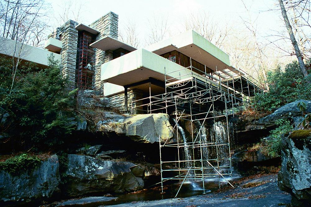 Fallingwater on twitter tbt to the cantilever - Maison sur la cascade ...