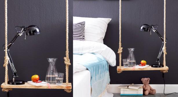 On se laisserait bien tenter par une petite table de chevet... balançoire ! http://t.co/XZDFMsi33w #DIY #deco http://t.co/Wm3q46tfDb