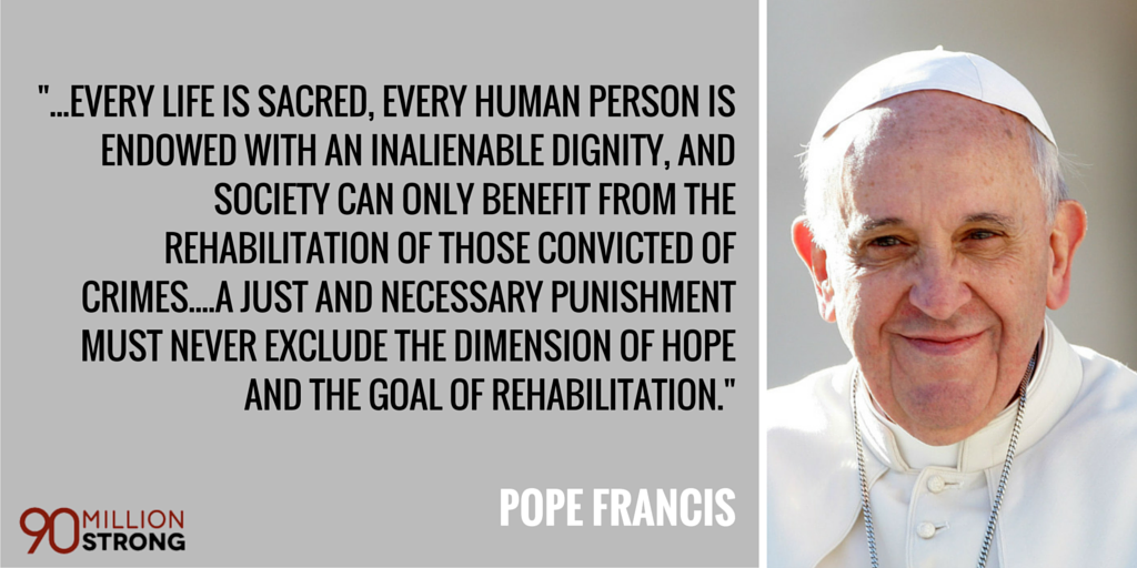 Thank you @Pontifex for speaking out against the #deathpenalty! #HaltAllExecutions #PopeinDC #PopeinUS #90mStrong http://t.co/jFdHBLrdxp