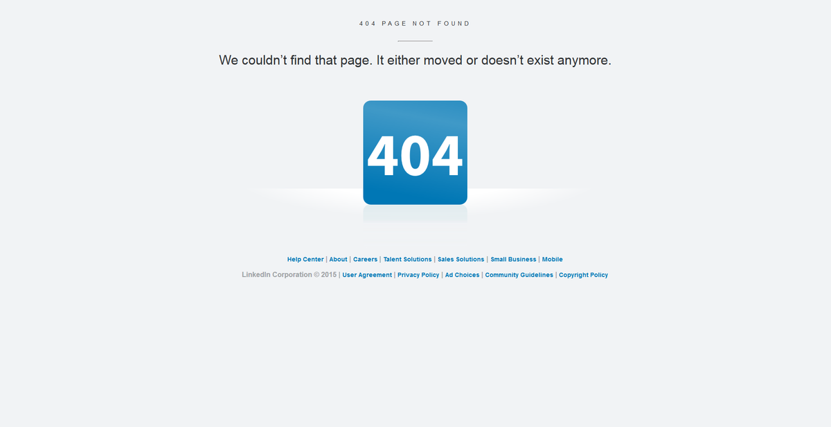 Jonathan Rick On Twitter Hey Linkedin Your 404 Error Page Could