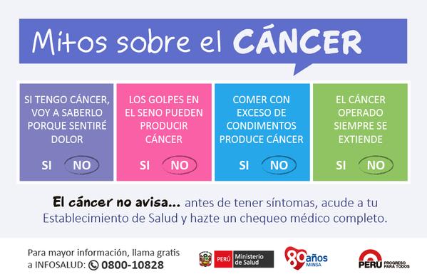 El Minsa realiza la promoción, diagnóstico temprano, prevención y tratamiento. #VamosaPrevenir el #cáncer ►andina.pe