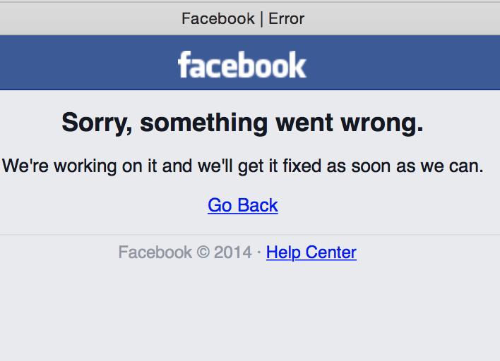 Facebook Down. Productivity Up! #Facebook #facebookdown http://t.co/3NxXnsrEg6