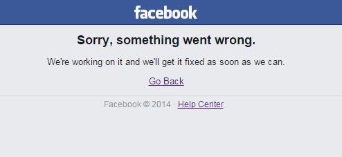 Facebook Down non funziona 24 settembre 2015.