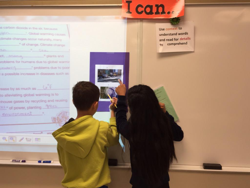 Curriculum connections! Close reading about Global Warming to analyze cause & effect. #wdsd7 http://t.co/Rnqxp6fa0X