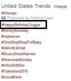 #HappyBirthdayGuggie trending in the US, Brazil & WW. HBD @mguggenheim. With love, The Olicity Fandom! xo :) http://t.co/dksFpC1UrU