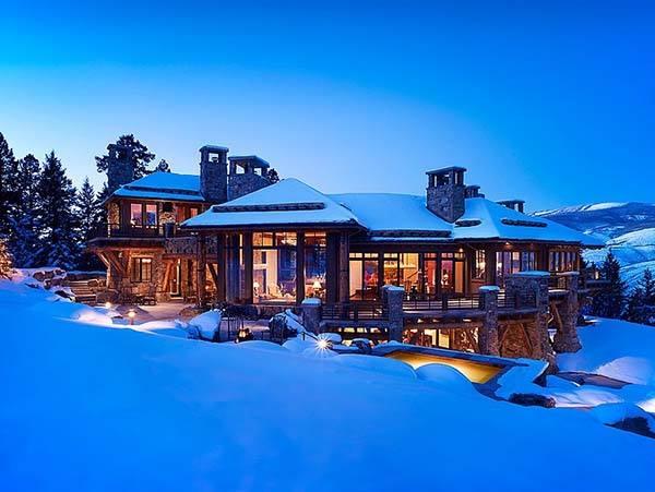 Absolutely fabulous rustic modern log estate in Colorado.