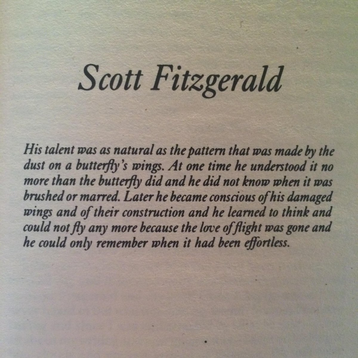 F. Scott Fitzgerald was born on this day in 1896. Here are Hemingway's sentiments on the man who brought us Gatsby. http://t.co/COwFkCHFvC
