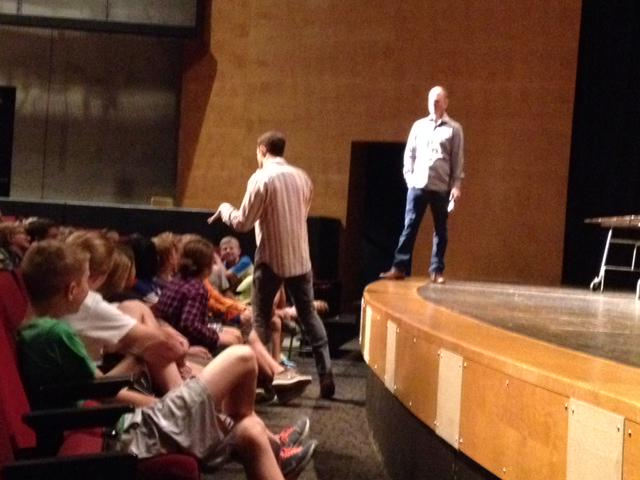 Students enthralled by authors Jake Halpern and Peter Kujawinski! #SVstory #PenguinTeen #Nightfall http://t.co/01Y1X9xBiX