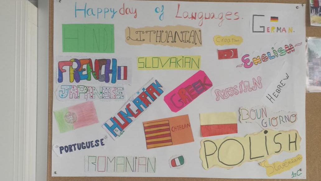 Poster created by students in 1st ESO C