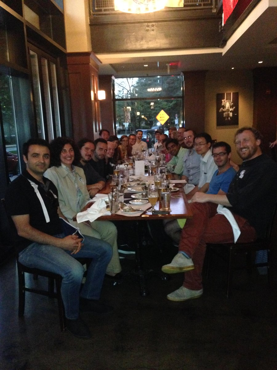 PHOTO: Course 1 postdocs, faculty and staff celebrate National Postdoc Appreciation Week at dinner at Kendall Square's Meadhall.