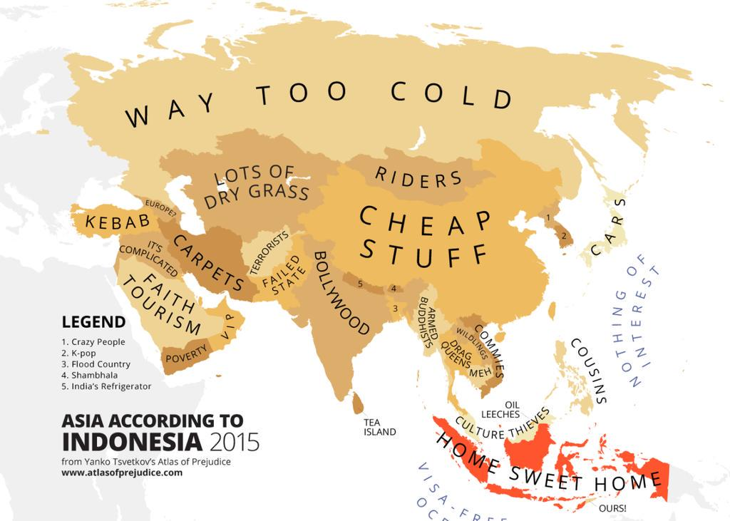 Asia According to Indonesia 2015 ;) http://t.co/nmkg8Agh3v