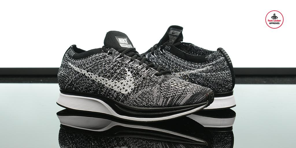 b321b35be439 The  Nike Flyknit Racer  Oreo  is hitting stores in Grade School sizes.