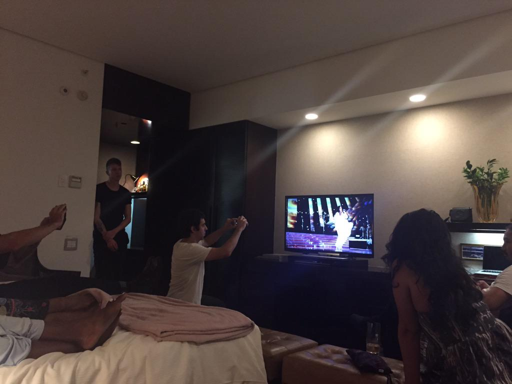 @CaseyHoops: Watching a Ivete Sangalo DVD with the tour fam, getting ready for the 55 thousand tomorrow‼️‼️ Brazil