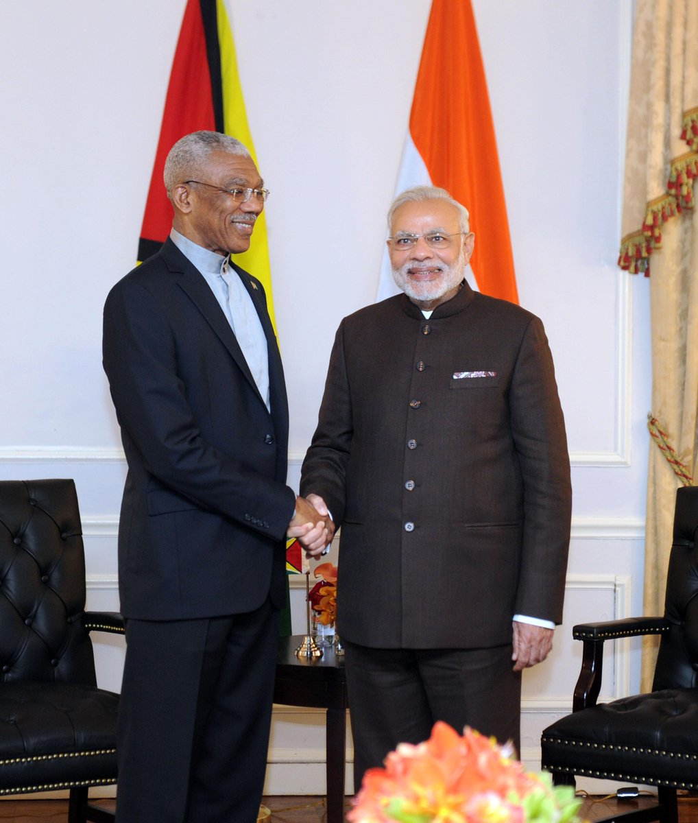 Discussed India-Guyana ties with President David Granger & invited him to visit India.