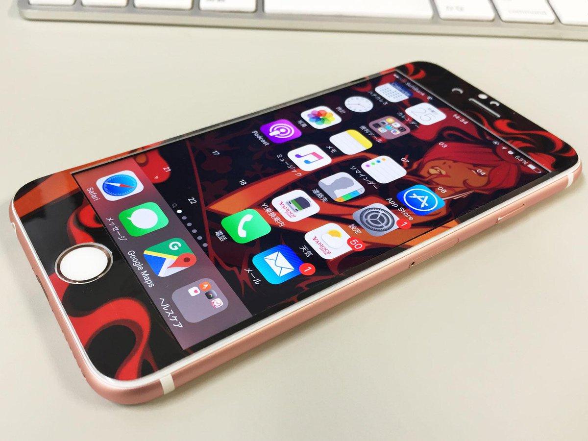 Synchroskin シンクロスキン Iphone6s対応 壁紙とスキンシールと アイコン までつながる イラストデザインはマツザワサトシさんです 新色のローズゴールドとすごく合ってますね Iphone6s 詳細 Http T Co Wo3qwf9tdp Http T Co Cfekg66c9r