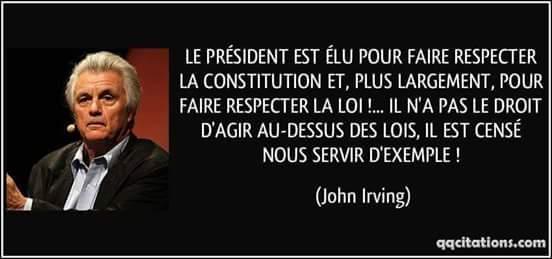 Ce sont les presidents de pays qui doivent respecter leur constitutions et pas le contraire!!