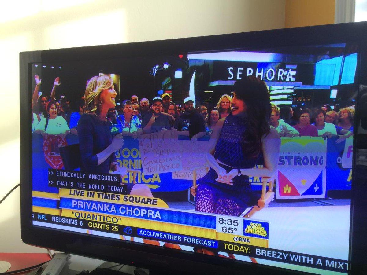 Priyanka Chopra on Good Morning America. She's so confident. Total crossover happening. http://t.co/xmknqW0mIU