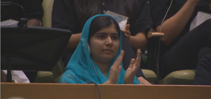 Humanitarian Malala Yousafzai applauds @PopeFrancis' call for education for girls the world over.  #FM_NYC http://t.co/shshBc31sc