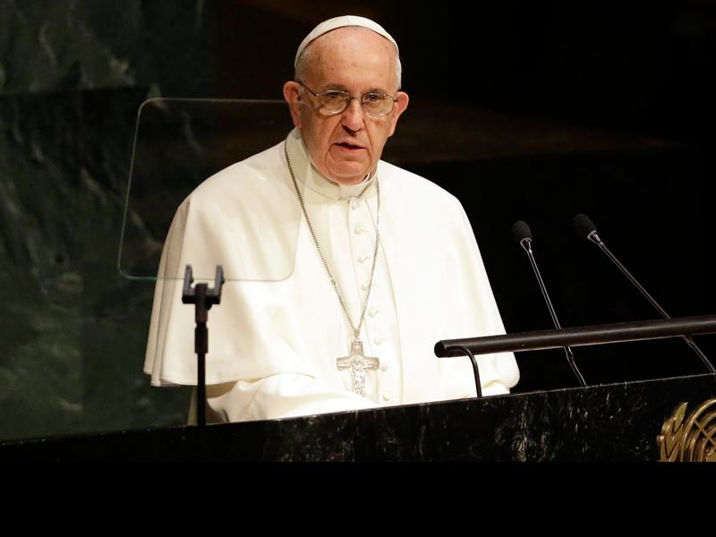 """If you fight among yourselves, you will be devoured by those outside.""- @Pontifex http://t.co/x9rdQNG20g #PopeinNYC http://t.co/NoOSA8r3ed"