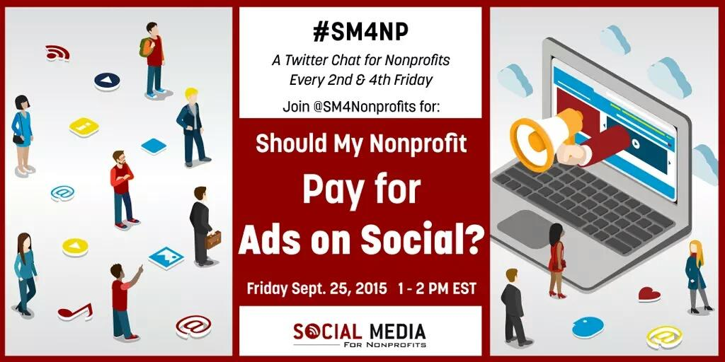 Join us at 10EST for a tweet chat about social advertising for nonprofits. Follow on #sm4np. #smm #nonprofit http://t.co/aymnG7yxIj