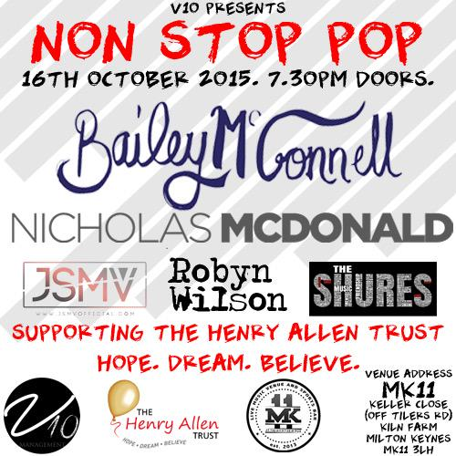RT @nonstoppoptour: Tickets will go on sale at 6pm. They are £10.  The first 75 will be VIP meet and greet. @baileymac02 @nickymcdonald1 ht…