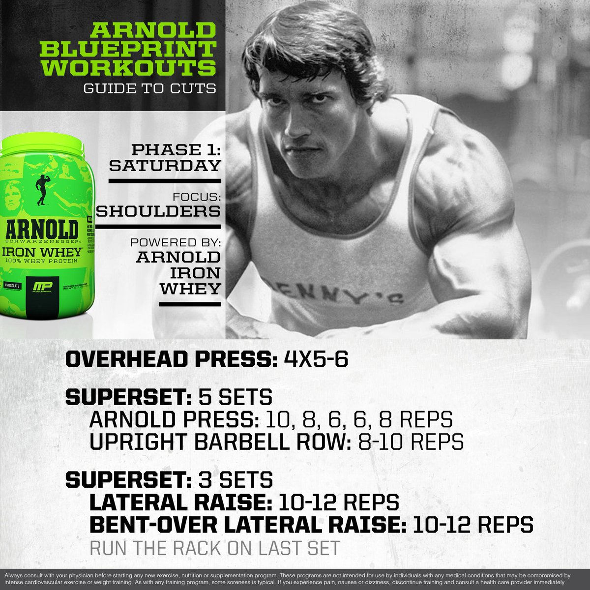 Musclepharm on twitter mp workout of the day arnold musclepharm on twitter mp workout of the day arnold schwarzenegger blueprint to cut shoulder workout powered by ironwhey httptay2cnc8je1 malvernweather Choice Image