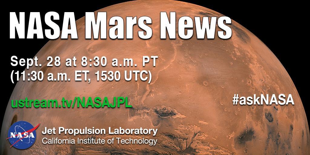 Conferenza stampa della NASA sul pianeta Marte.