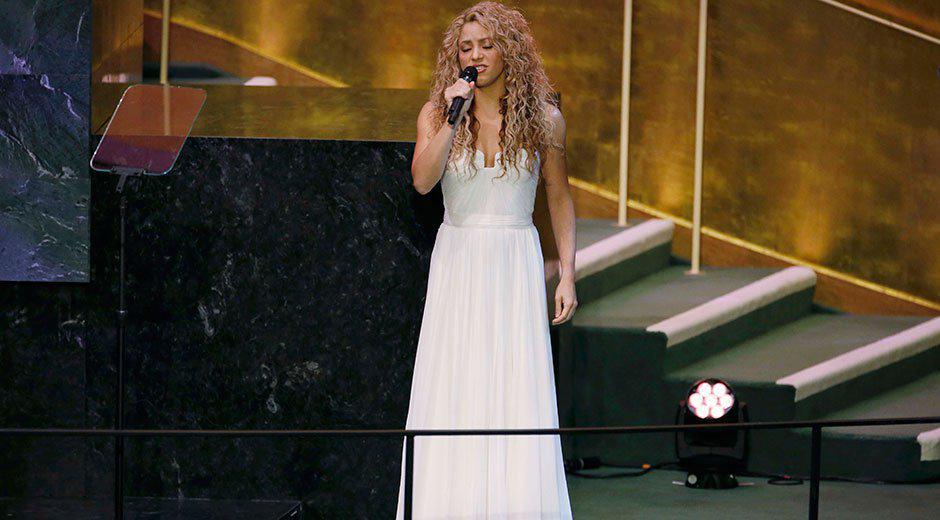 VIDEO Shakira canta all'Onu dopo il discorso di Papa Francesco.