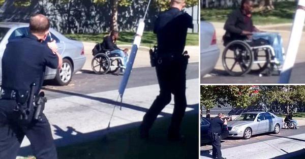 Le immagini del giovane Afroamericano in sedia a rotelle ucciso dalla polizia negli USA stanno facendo il giro del mondo