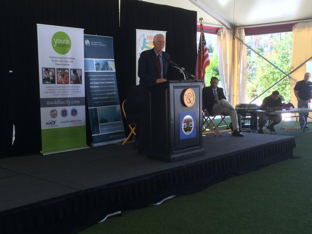 Now speaking is the president of Los Angeles Trade Tech College, Larry Frank @LATTC #myfuture #youthjobs