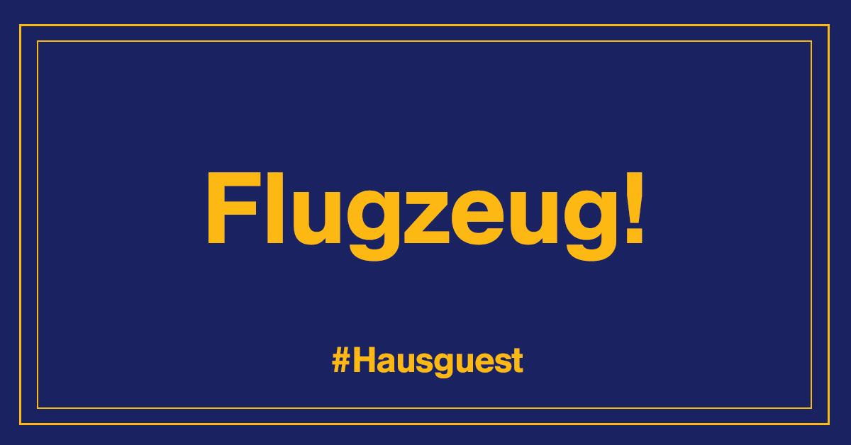 Do you know how to say 'airplane' in German? Flugzeug! RT to win #Hausguest essentials from Lufthansa. http://t.co/33wgAvAGIh